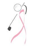 nowotwór piersi golfista ilustracja wektor