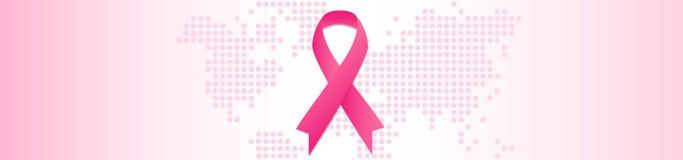 Nowotwór piersi kampanii informacyjnej pojęcie Października miesiąc Zdjęcie Royalty Free