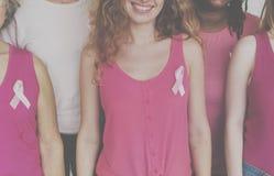 Nowotwór Piersi kampanii opieki kobiet jedności Żeński pojęcie Obrazy Royalty Free