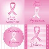 nowotwór piersi lekarstwa walki znaleziska funduszu pocztowy znaczek Fotografia Stock