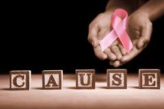 nowotwór piersi przyczyna poparcie obrazy royalty free