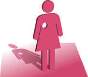Nowotworu piersi symbol Zdjęcie Stock