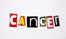 nowotworu słowo robić od magazynów listów z listami Obrazy Stock
