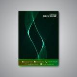 Nowożytna abstrakcjonistyczna szablonu układu broszurka Zdjęcie Stock