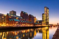 Nowożytna architektura w Rotterdam holandiach Zdjęcia Royalty Free