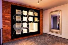 Nowożytna sala w mieszkaniu Obrazy Royalty Free
