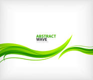 Nowożytna zielona eco zawijasa abstrakcja Obrazy Royalty Free