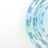 Nowożytnej technologii tła abstrakta błękitny templat Fotografia Stock