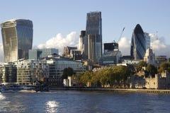 Nowożytni budynki, Londyński pejzaż miejski Zdjęcia Stock