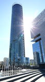 Nowożytni budynki pod niebieskim niebem Zdjęcia Stock