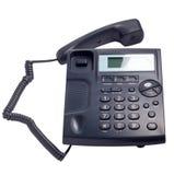 Nowożytny błękitny biznesowy telefon odizolowywający Fotografia Royalty Free