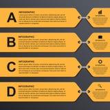 Nowożytny infographic opcja sztandar cztery elementy projektu tła snowfiake białego Fotografia Royalty Free