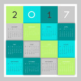 Nowożytny kalendarzowy projekt Obrazy Stock
