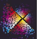 Nowożytny kolorowy wzór z koloru kwadratem Obraz Royalty Free