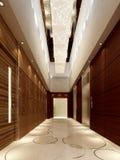 nowożytny korytarza rendering Zdjęcia Stock
