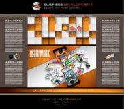 Nowożytny strona internetowa szablon z mieszkanie stylu infographics układem Fotografia Stock