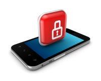 Nowożytny telefon komórkowy z ikoną kędziorek. Obraz Royalty Free