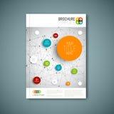 Nowożytny Wektorowy abstrakcjonistyczny broszurka raportu projekta szablon Obrazy Royalty Free