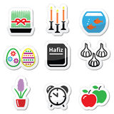 Nowruz - Persian New Year icons set Stock Photography