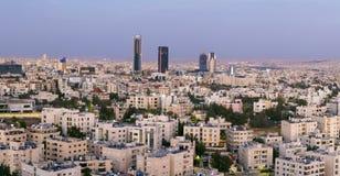 Nowy śródmieście Amman - Abdali teren nowożytny góruje Zdjęcie Stock