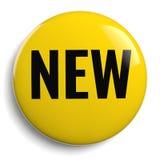 Nowy Żółty Round 3D symbol Obraz Stock