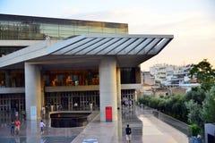 Nowy akropol Muzealny Ateny Grecja Zdjęcia Royalty Free