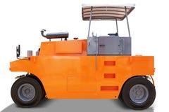 Nowy asfaltowy rolownik z pomarańczowym kolorem na studiu zdjęcia stock