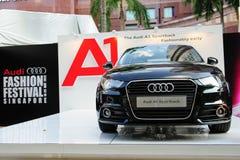 Nowy Audi A1 hatchback na pokazie przy Audi mody festiwalem 2012 zdjęcie stock