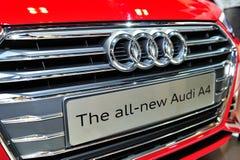 Nowy Audi A4 pokaz podczas Singapur Motorshow 2016 Zdjęcia Royalty Free