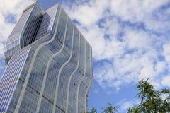 Nowy błękitny drapacz chmur lianfa grupa, adobe rgb Fotografia Royalty Free