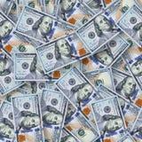 Nowy $100 banknotów bezszwowy deseniowy tło Obraz Stock