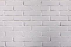 Nowy biały ściana z cegieł wzór - symetryczny tło zdjęcia stock