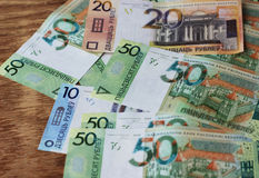 Nowy Białoruski pieniądze Fotografia Stock