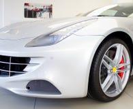Nowy biały sportowy samochód Fotografia Stock