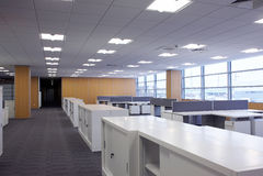 nowy biznesowy centre fotografia stock
