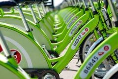 Nowy Budapest roweru dzierżawienia system Fotografia Royalty Free