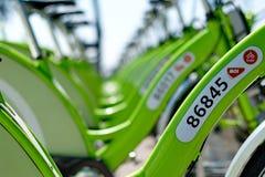 Nowy Budapest roweru dzierżawienie nazwany BUBI Fotografia Royalty Free