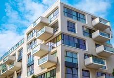 Nowy budynek mieszkaniowy w Hamburg Obrazy Stock
