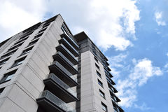 Nowy budynek w Birmingham centrum miasta na pięknym niebie Obraz Royalty Free