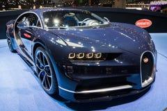 Nowy Bugatti Chiron sportscar Zdjęcia Royalty Free