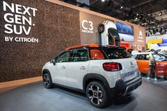 Nowy Citroen C3 Aircross SUV Obraz Stock