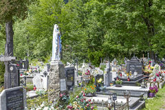 Nowy Cmentarz, New Cemetery in Zakopane Royalty Free Stock Image