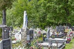 Nowy Cmentarz, ny kyrkogård i Zakopane Royaltyfri Bild