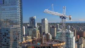 Nowy Consnruction w W centrum Vancouver Zdjęcia Stock