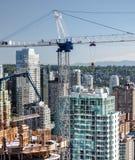 Nowy Consnruction w W centrum Vancouver Obraz Stock