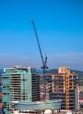 Nowy Consnruction w W centrum Vancouver Obraz Royalty Free