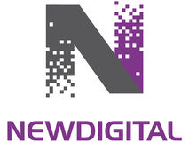 nowy cyfrowy logo Zdjęcie Stock