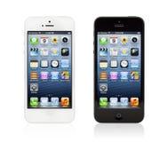 Nowy Czarny I Biały Jabłczany iphone 5 Obrazy Stock