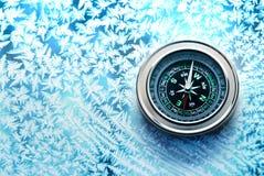 Nowy czarny kompas zdjęcia royalty free
