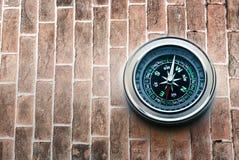 Nowy czarny kompas fotografia stock